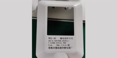 华狮电器厂的开关面板打标案例